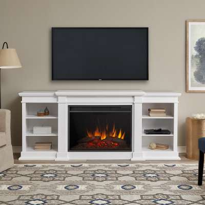 Eliot Indoor Electric Fireplace Entertainment Center TV Stand Media Cabinet Media Console Mantel Heater