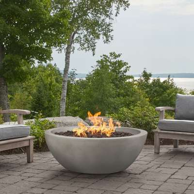 "42"" GFRC Propane Fire Pit Natural Gas Fire Bowl Outdoor Fireplace Fire Table for Backyard or Patio"