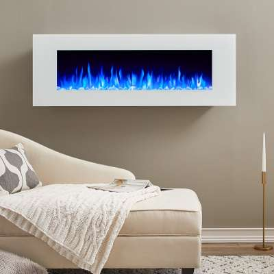 DiNatale Wall Mount Electric Fireplace Portable Fireplace Heater for Indoor