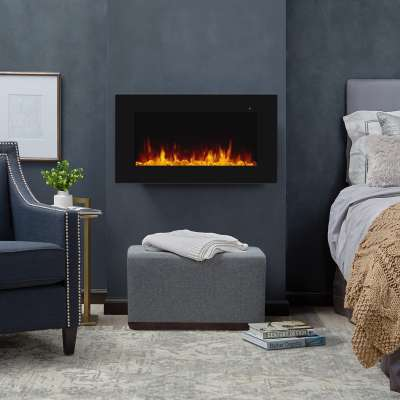 "Corretto 40"" Wall Mount Electric Fireplace Portable Fireplace Heater for Indoor"