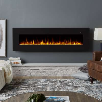 "Corretto 72"" Wall Mount Electric Fireplace Portable Fireplace Heater for Indoor"