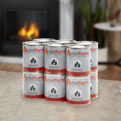 Real Flame Gel Fuel Ventless Fuel Cans for Fireplace Fire Pot