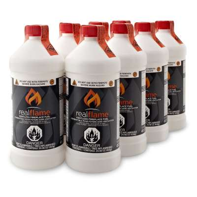 Real Flame Ventless Fuel 8 Pack for Fire Pot Fireplace