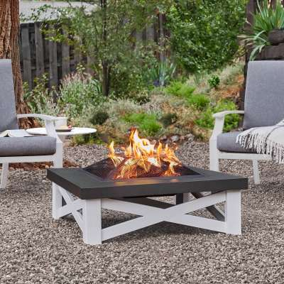 Austin Wood Burning Fire Pit Outdoor Fire Bowl Fireplace for Backyard Patio Camping