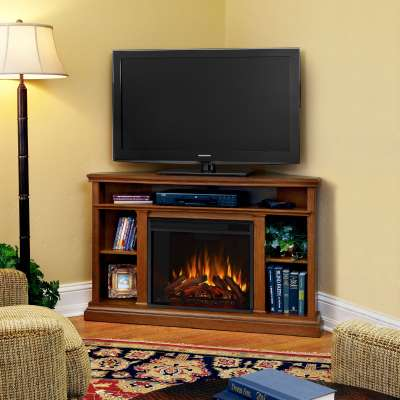 Churchill Corner Electric Fireplace Media Console