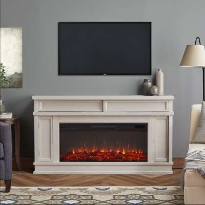 Torrey Indoor Electric Fireplace Entertainment Center TV Stand Media Cabinet Media Console Mantel Heater with Shelves