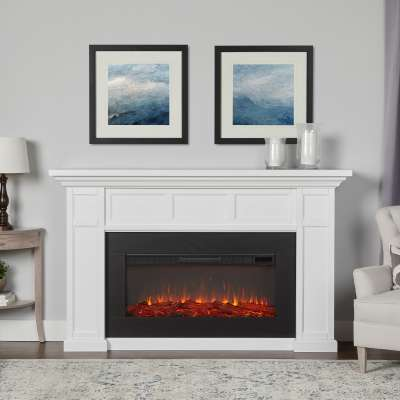 Alcott Landscape Indoor Electric Fireplace with Mantel Portable Heater