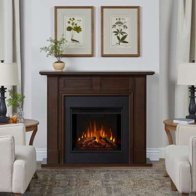 Granby Indoor Electric Fireplace with Mantel Portable Heater