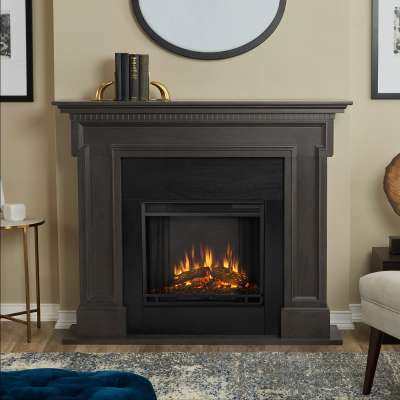 Thayer Indoor Electric Fireplace with Mantel Portable Heater