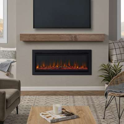 """49"""" Wall Mounted or Recessed Electric Fireplace Insert Heater"""