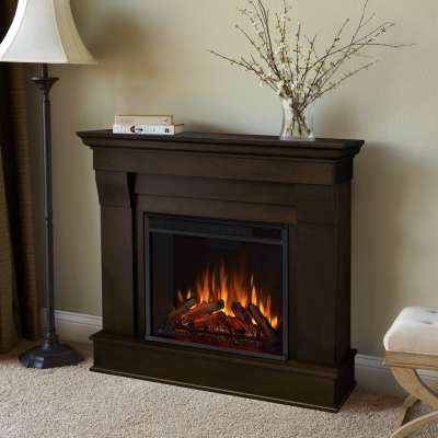 Chateau Indoor Electric Fireplace with Mantel Portable Heater