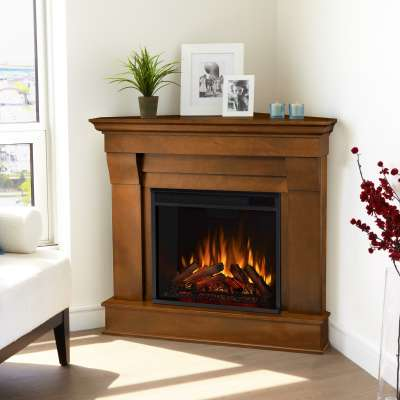Chateau Corner Indoor Electric Fireplace with Mantel Portable Heater