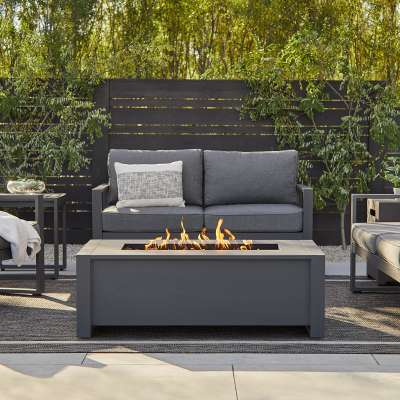 """Keenan 42"""" Propane Fire Pit Fire Bowl Outdoor Fireplace Fire Table for Backyard or Patio"""