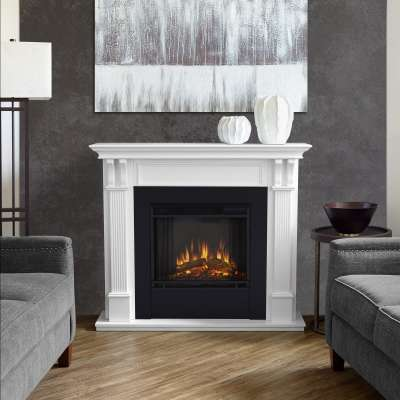 Ashley Indoor Electric Fireplace with Mantel Portable Heater