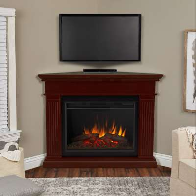 Kennedy Grand Corner Indoor Electric Fireplace with Mantel Portable Heater