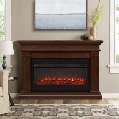 Beau Landscape Indoor Electric Fireplace with Mantel Portable Heater