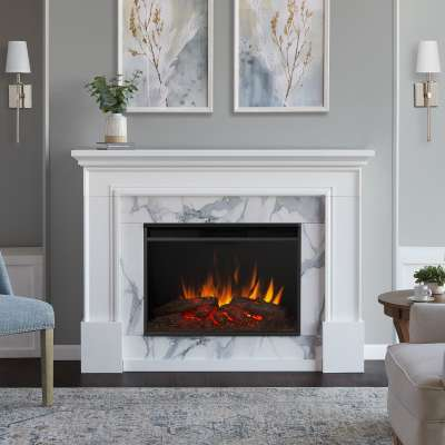 Merced Grand Indoor Electric Fireplace with Mantel Portable Heater