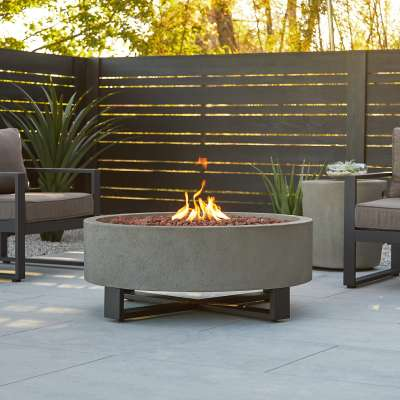 Idledale Propane Fire Pit Fire Bowl Outdoor Fireplace Fire Table for Backyard or Patio