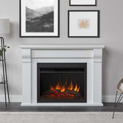 Whittier Grand Indoor Electric Fireplace with Mantel Portable Heater