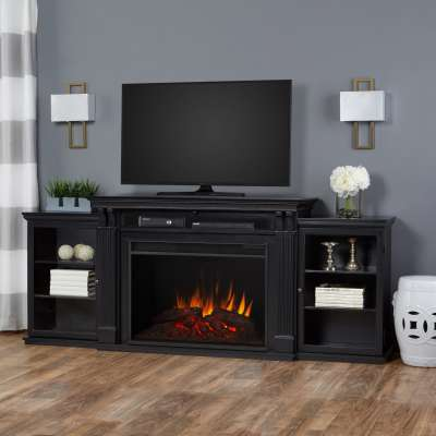 Tracey Indoor Electric Fireplace Entertainment Center TV Stand Media Cabinet Media Console Mantel Heater