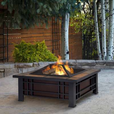 Morrison Wood Burning Fire Pit Outdoor Fire Bowl Fireplace for Backyard Patio Camping