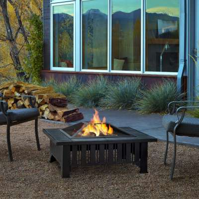 Lafayette Wood Burning Fire Pit Outdoor Fire Bowl Fireplace for Backyard Patio Camping