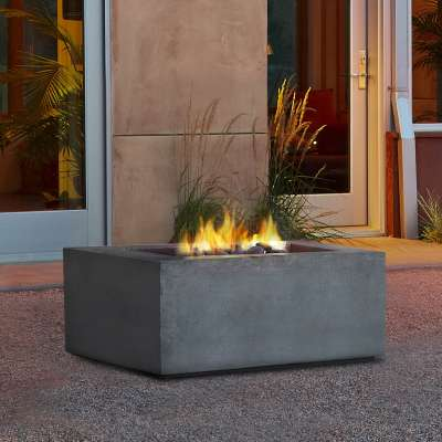 Baltic Square Natural Gas Fire Pit Outdoor Fireplace Fire Table for Backyard or Patio