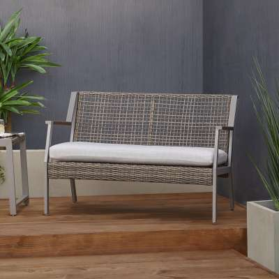 Calvin Outdoor Loveseat Patio Loveseat Outdoor Two Seat Bench Patio Furniture