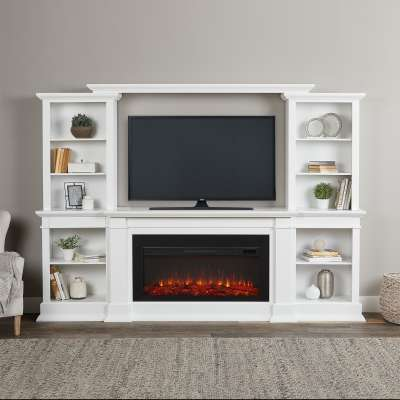 Monte Vista Indoor Electric Fireplace Entertainment Center TV Stand Media Cabinet Media Console Mantel Heater