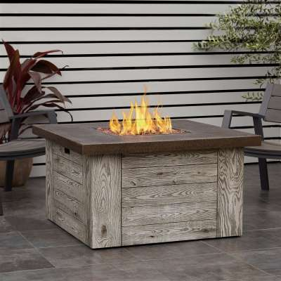 Forest Ridge Propane Fire Pit Outdoor Fireplace Fire Table for Backyard or Patio