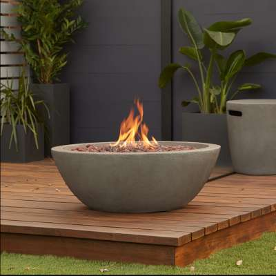 Riverside Propane Fire Pit Fire Bowl Outdoor Fireplace Fire Table for Backyard or Patio