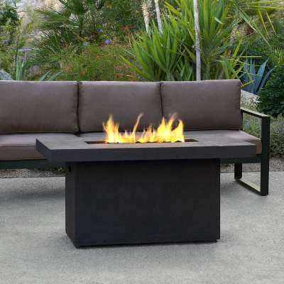 Ventura Outdoor Propane Fire Pit Fireplace Fire Table for Backyard or Patio with Natural Gas Conversion Kit
