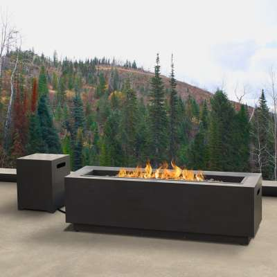 Lanesboro Outdoor Propane Fire Pit Fireplace Fire Table for Backyard or Patio with Natural Gas Conversion Kit