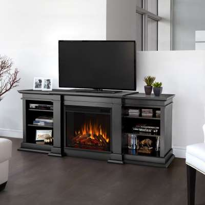 Fresno Indoor Electric Fireplace Entertainment Center TV Stand Media Cabinet Media Console Mantel Heater
