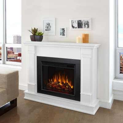 Silverton Indoor Electric Fireplace with Mantel Portable Heater