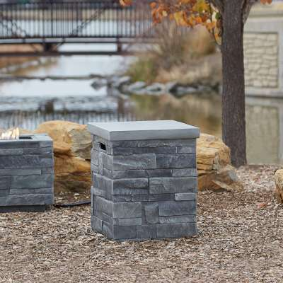 Ledgestone Propane Tank Cover for Outdoor Propane Fire Table Fire Pit